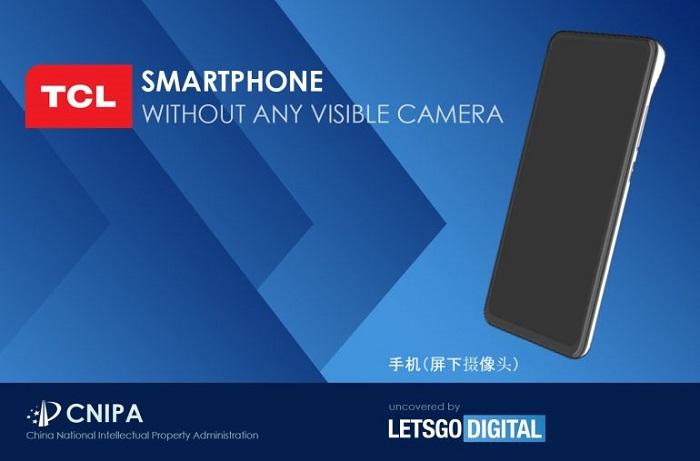 专利暗示TCL欲打造一款采用屏下隐藏式摄像头的新机